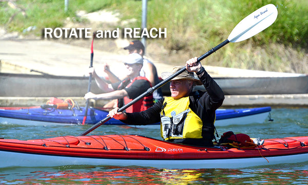 rotate and reach paddle stroke