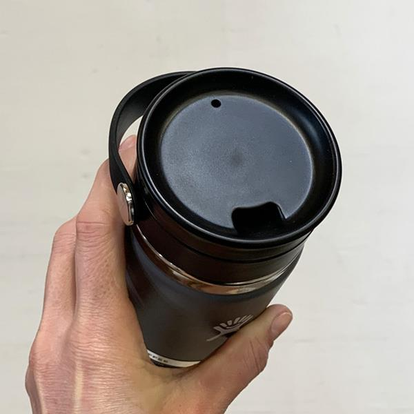 Hydro Flask sip lid open