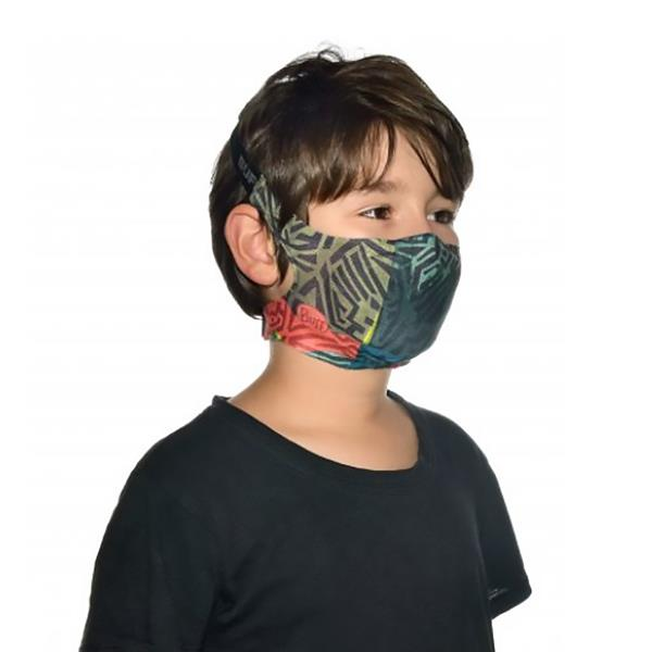 Buff mask kids stony green
