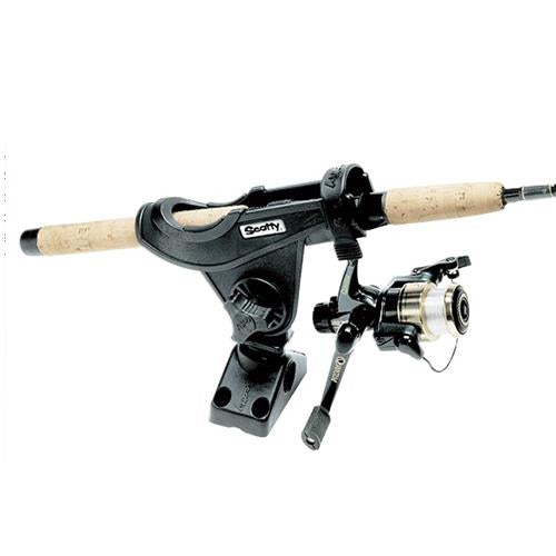 Scotty Bait Caster 280 rod holder with spinning reel