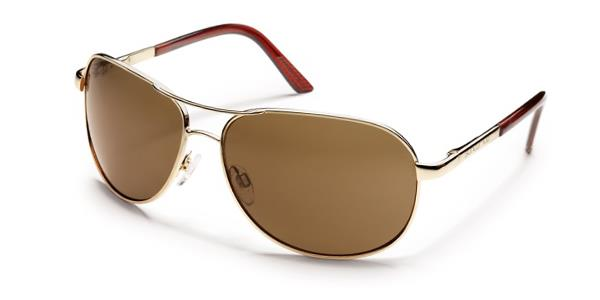 Suncloud Aviator gold frame brown lens