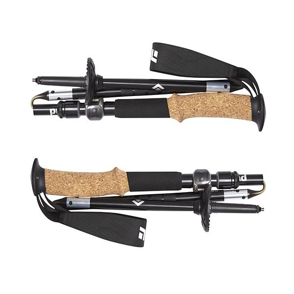 Black Diamond Alpine FLZ trekking poles collapsed