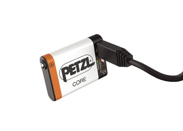 Petzl Cory rechargeable battery USB port