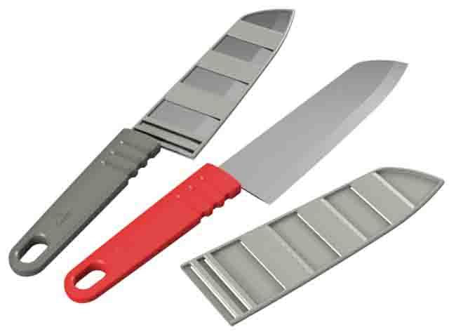 12767 MSR Knife Alpine Chef's (gray & red)