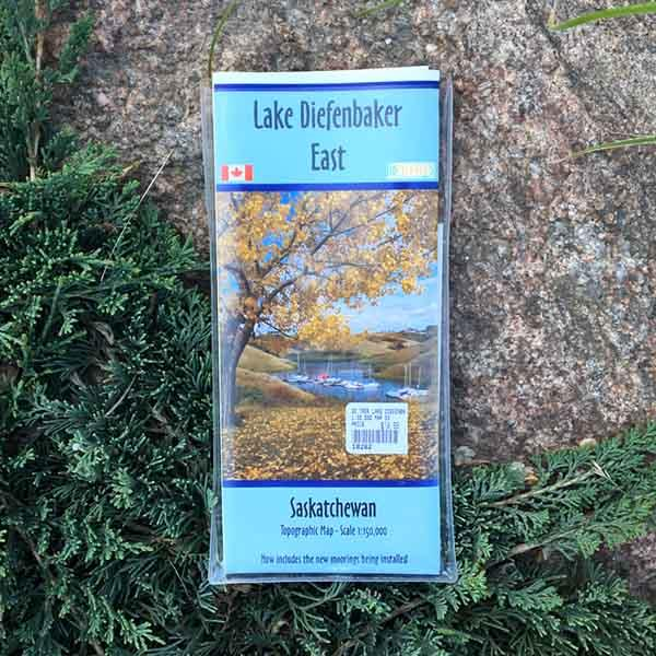 Go Trekker map Lake Diefenbaker East