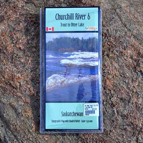 Go Trekker map Churchill River 6 Trout to Otter