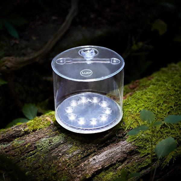 Luci Outdoor 2.0 inflatable light on log