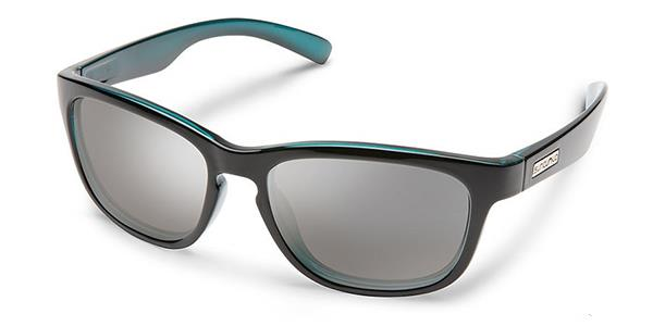 Suncloud Cinco aqua backpaint frame silver mirror lens