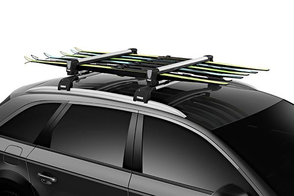 Thule SnowPack on vehicle with skis in it