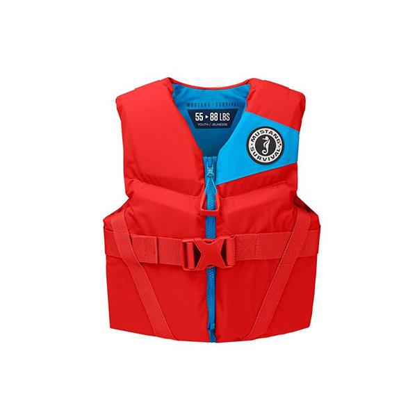 Mustang REV youth vest red