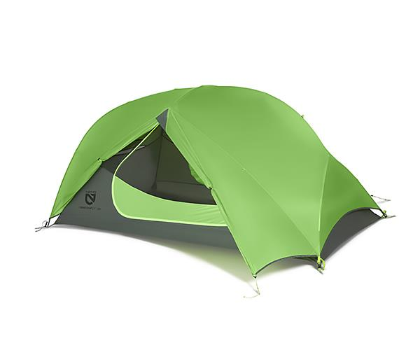 Nemo Dragonfly 2P tent with fly open