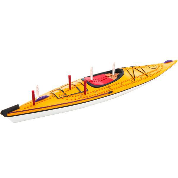 Inside Outside Kayak cribbage board