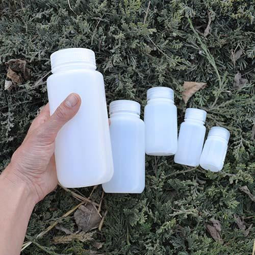 Nalgene HDPE wide mouth round bottles