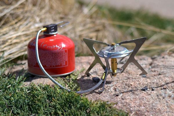 MSR WindPro stove remote canister
