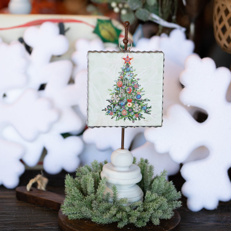 Holiday Word Tree Hanger