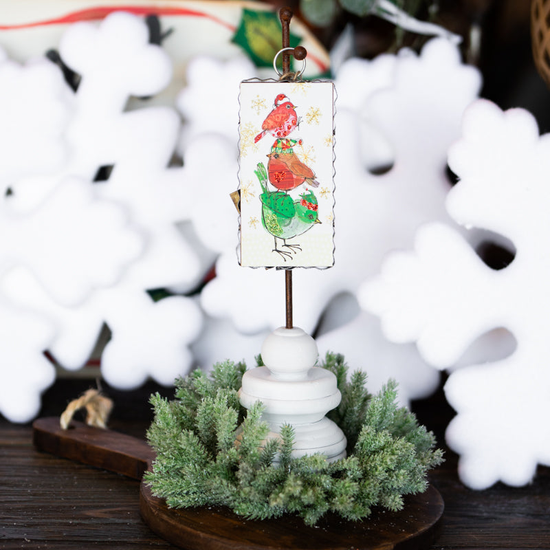 Mini Bird Stack Ornament