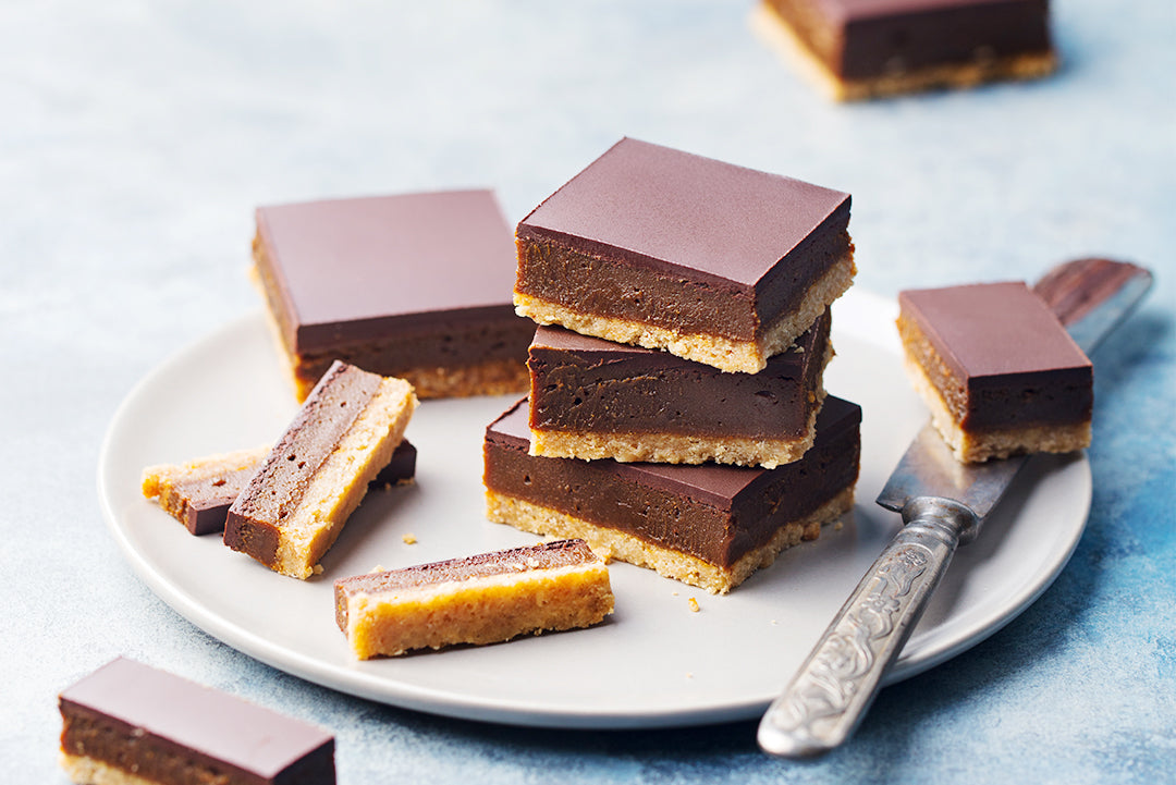 Decadent Choc Caramel Collagen Slice