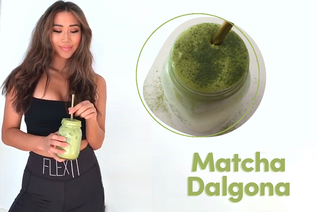 Collagen Matcha Dalgona Latte