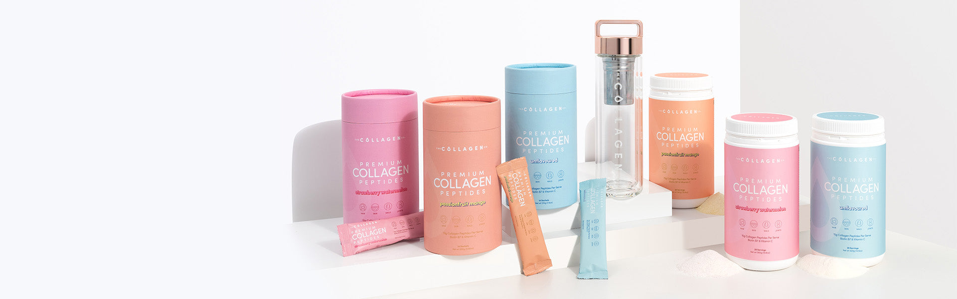 Full range of The Collagen Co. products and infuser
