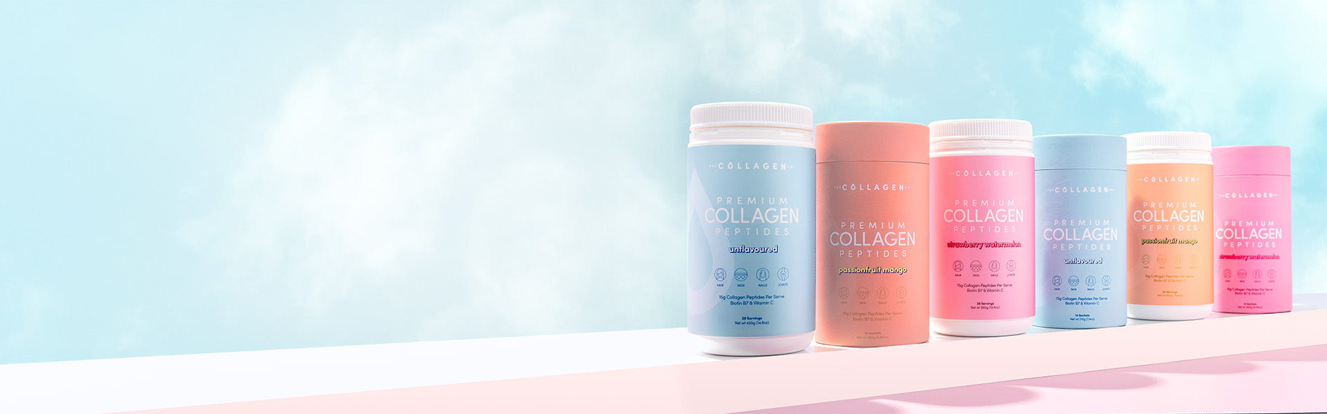 The Collagen Co. Cylinder and Jar products