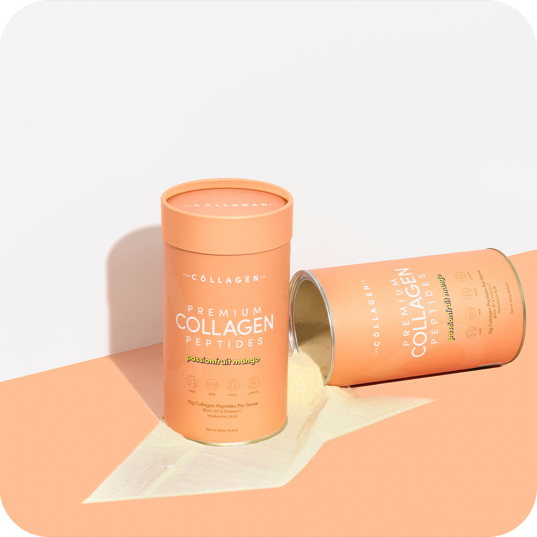 The Ultimate Glow Up = 3 x Cylinders (Loose Powder), 3 x Cylinders (Sachets) & 1 x The Collagen Co. Infuser