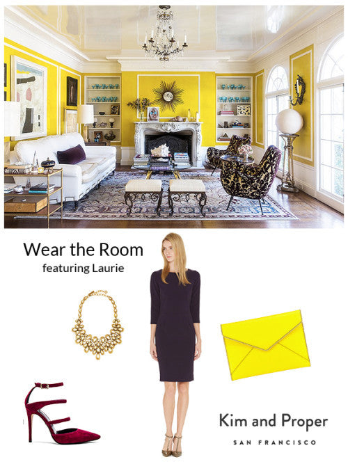 Wear the Room: Bold Yellow Living Room as Laurie