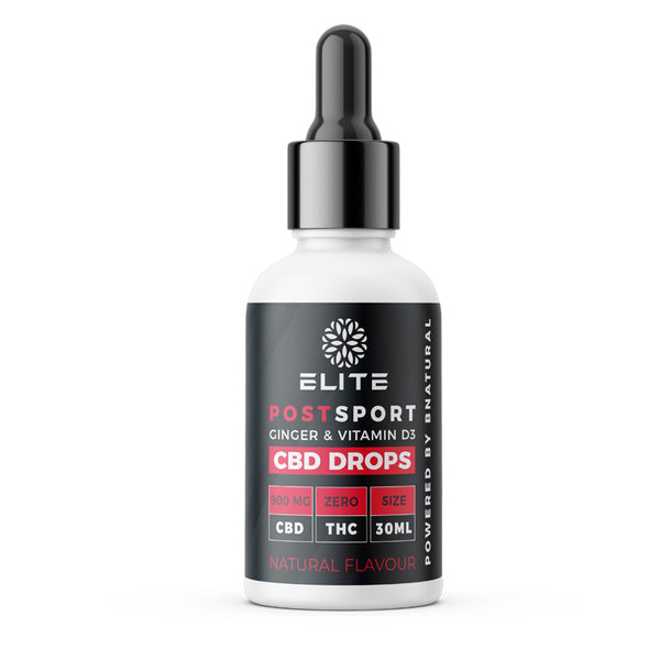 Post Sport CBD Drops with Ginger and Vitamin D