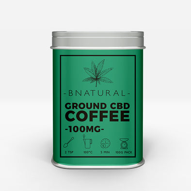 CBD infused ground coffee – 100mg