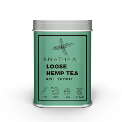 Hemp and Peppermint Tea – 40g Loose