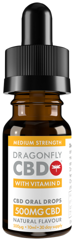 Vitamin D Dragonfly CBD Oil 500mg, 10ml