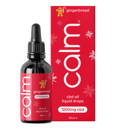 CALM - GINGERBREAD CBD OIL DROPS 1200MG (4%) 30ML