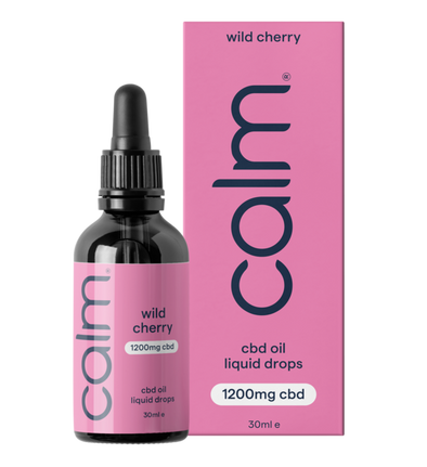 CALM - WILD CHERRY CBD OIL DROPS 1200MG (4%) 30ML