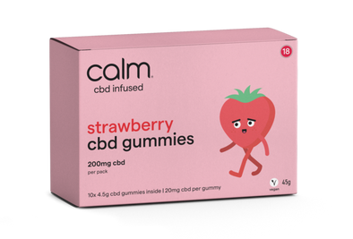 CALM - STRAWBERRY CBD GUMMIES 10 PACK - 200MG