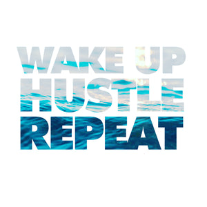 Wake Up, Hustle, Repeat Canvas Tile