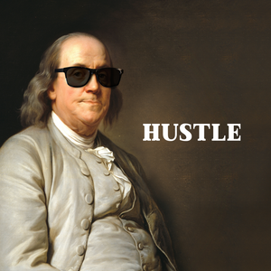 Hustle Like Benjamin Franklin Canvas Tile