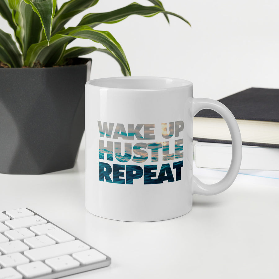 Wake Up, Hustle, Repeat Mug 11oz