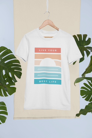 Live Your Best Life Men's Cotton Crew Tee