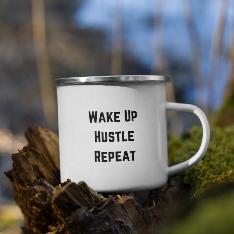 Wake Up and Hustle Camper Mug