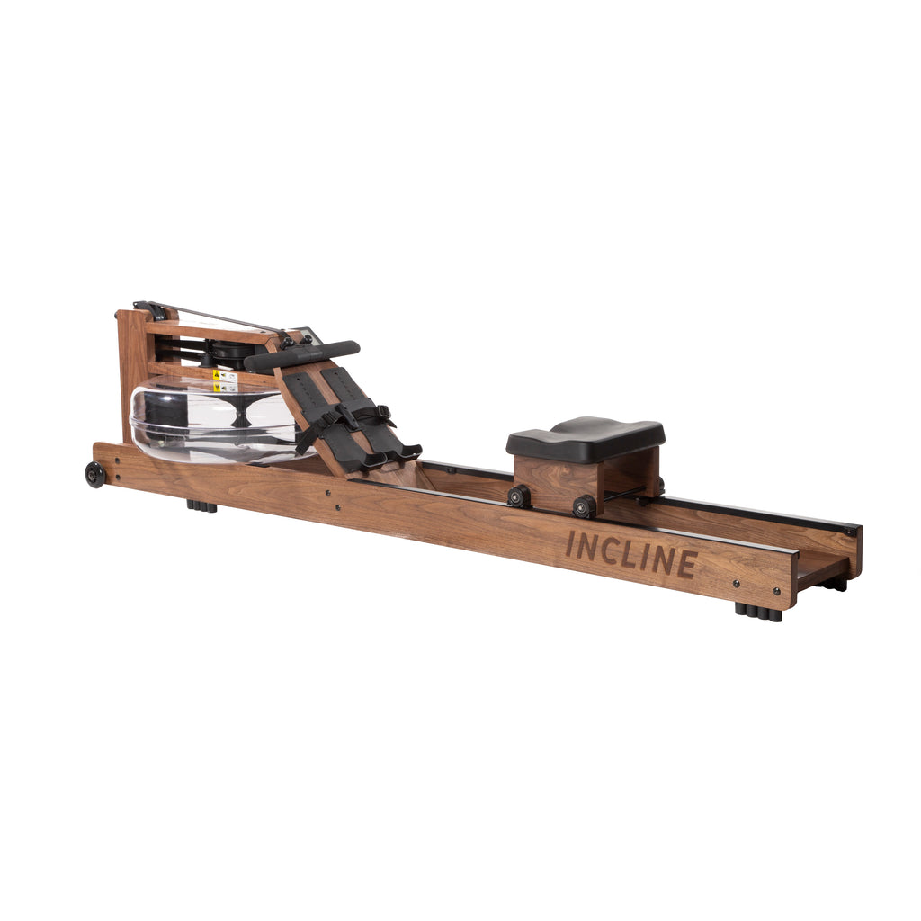 Walnut Water Rowing Machine with Monitor