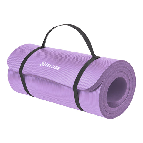 Ananda 1 Inch Extra Thick Exercise Mat - Non Slip Workout Mat For Yoga, Pilates, Stretching, Meditation, Floor & Fitness Exercises