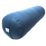 Round and Rectangle Supportive Yoga Bolster Filled with Cotton and Includes Machine Washable Cotton Cover and Carry Handle, Cylinder