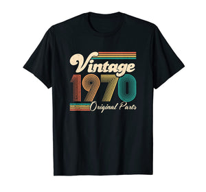 50th Birthday Gift - Vintage 1970 - Retro Bday 50 Years Old T-Shirt