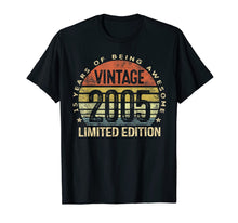 Load image into Gallery viewer, 15 Year Old Gifts Vintage 2005 Limited Edition 15th Birthday T-Shirt