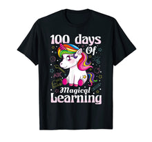 Load image into Gallery viewer, 100th Day of School Unicorn T Shirt Girls 100 Days of School T-Shirt