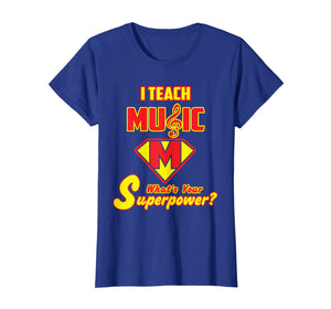 2 Sided Superhero: I Teach Music What's Your Superpower?