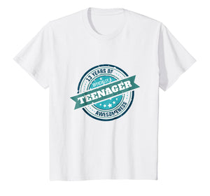 13th Birthday Official Teenager Gift Shirt For Girls & Boys