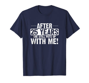 25th Anniversary T-Shirt 25 Years Marriage Husband Gift
