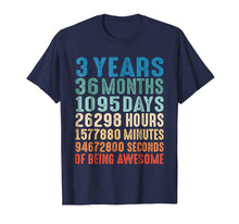 Load image into Gallery viewer, 3 Years Old 3rd Birthday Vintage Retro T Shirt 36 Months