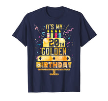 Load image into Gallery viewer, 20th Birthday T Shirt It's My 20th Golden Birthday Vintage
