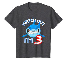 Load image into Gallery viewer, 3rd Birthday Shark Shirt Funny 3 Years Old Boy Girl Shirt